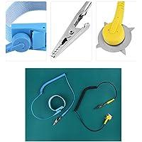 WALFRONT Kit de Correa Antiestática ESD Mate, muñequera antiestática, electrostática Alfombra de Silicona + cinturón de Pulsera + 2pcs Cable