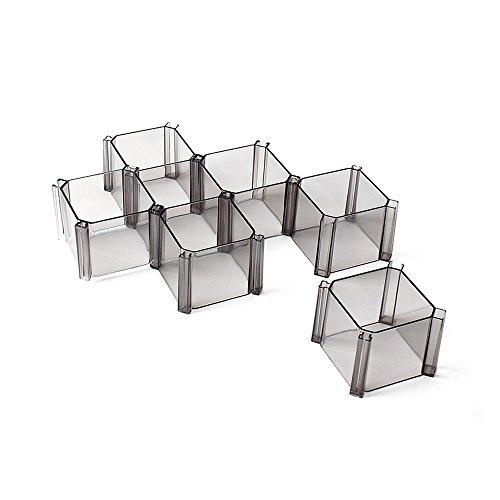 Set von 6Waben Schublade Organizer Closet Organizer Trennwand Kunststoff Partition schwarz