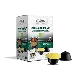Must Espresso Italiano 96 Capsule Compatibili Dolce Gusto Tè Verde in Foglie China Jasmine - 6 confezioni da 16 capsule