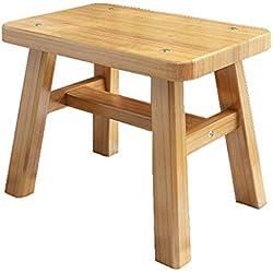 Hogar y muebles de jardín Taburete de bambú pequeño丨Taburete de baño Ben Banco de madera丨Taburete cuadrado de dibujos animados丨Cambiar banca de zapatos Sto Taburete de pesca Sto Taburete cuadrado Otom