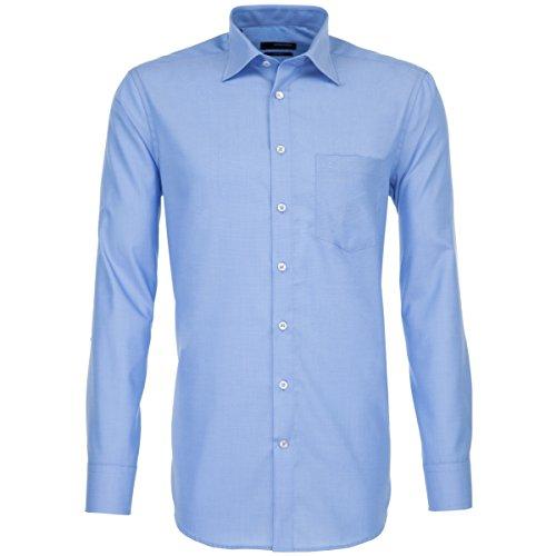 Seidensticker Seidensticker Herren Business Hemd Modern Fit - Bügelfreies Hemd mit geradem Schnitt, Kent-Kragen & Brusttasche - Langarm - 100% Baumwolle, blau, 38