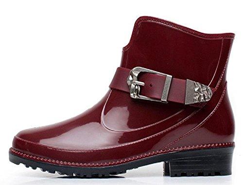 L'Europa e gli stivali da pioggia Martin Stati Uniti moda Red