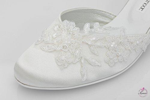 Brautschuhe mit edler Spitze | ivory