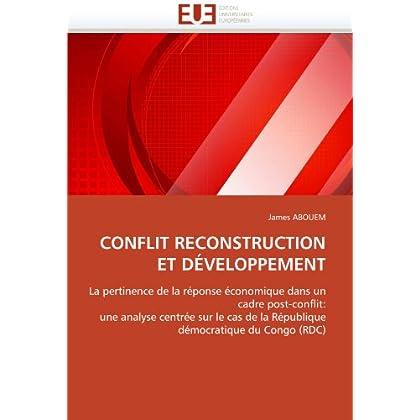 Conflit reconstruction et développement