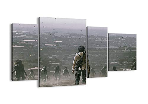 Bild auf Leinwand - Leinwandbilder - Vier Teile - Breite: 120cm, Höhe: 70cm - Bildnummer 4101 - vierteilig - mehrteilig - zum Aufhängen bereit - Bilder - Kunstdruck - DL120x70-4101