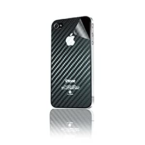 Hornettek TPU-CARBON Diamond Shield Protection Film for iPhone 4/4S - Retail Packaging - Carbon