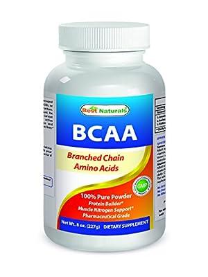 Best Naturals BCAA Powder 8 OZ Branch Chain Amino Acids Pharmaceutical Grade by Best Naturals