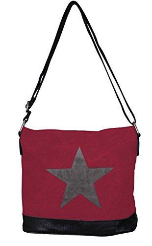 PiriModa, Borsa a spalla donna Multicolore multicolore Modell 3 Bordeaux/Grau