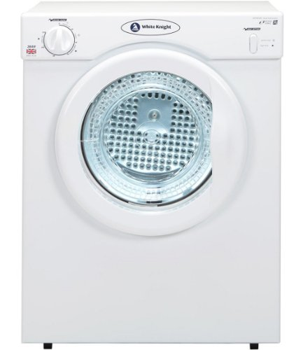 White Knight C38AW Freestanding Front-Loading 3kg White Tumble Dryer, Energy Rating C.