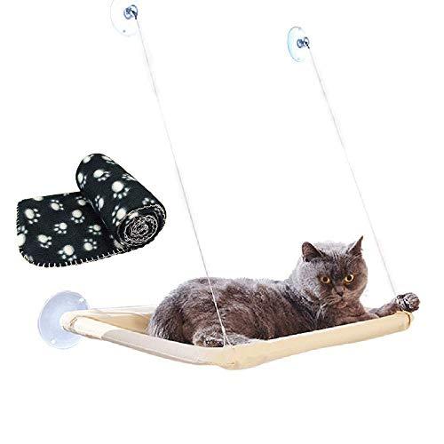 JZK Ventana montada hamaca gato + manta