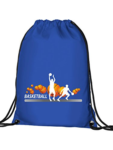 Basketball Fan 4446 Turnbeutel (Blau)