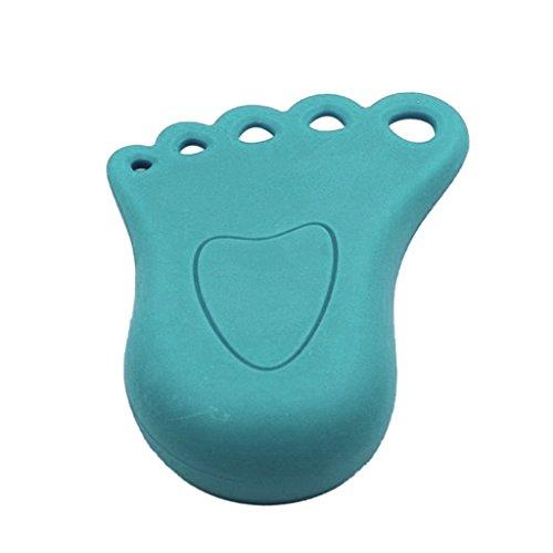 1pcs Fuß Design Türstopper Keil Störsender Stopper Hauptdekor Kinder Baby Blue - Blau