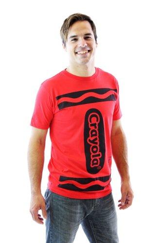 Crayola Crayon Kostüm - Crayola Crayon rot Erwachsene Kostüm T-shirt