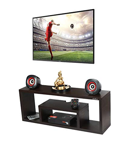 official photos a01d5 fdaa1 Wall Shelf Console - Anikaa Aster Wall Mounted Media Console Shelf TV  Stand/TV Entertainment Unit (Wenge)