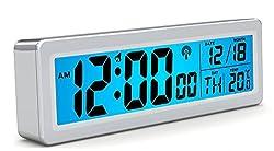 Zhiyuan Germany Radio Waves Electronic Alarm Clock Electronic Alarm Clock Digital Electronic Alarm Clock Lcd