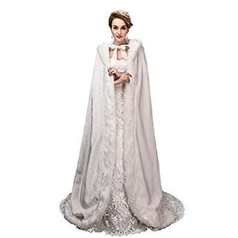 enjoybridal ivoire chaud hiver fourrure mari e manteau longue cape charpe bol ro pour robe de. Black Bedroom Furniture Sets. Home Design Ideas