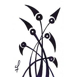 Olivier Cornil – Oiseaux en méditation – Tuschezeichnung – 10 x 15 cm
