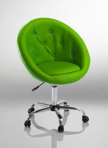 Drehstuhl Schreibtischstuhl Grün Rollhocker mit Lehne Arbeitshocker Kosmetikhocker Duhome 0537