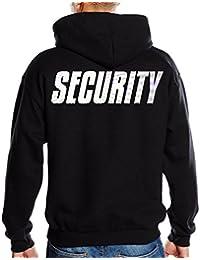 SECURITY - SWEATSHIRT mit Kapuze - reflektierende Folie S M L XL XXL 3XL 4XL 5XL