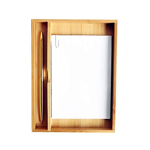 Unabhängige Desktop-Aufbewahrungsbox, Hölzerner Büromaterial-Briefpapier-Schmutz-Trimmer -