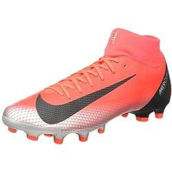 Nike Superfly 6 Academy Cr7 FG/MG, Chaussures de Football Mixte Adulte, Multicolore (Bright Crimson/Black/Chrome/Dark Grey 000), 42 EU