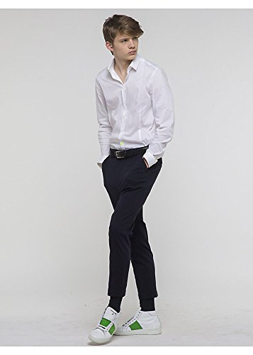 Camicia in Popeline di Cotone Stretch Bianca 5J1409 A2LT - Patrizia Pepe Uomo, 48