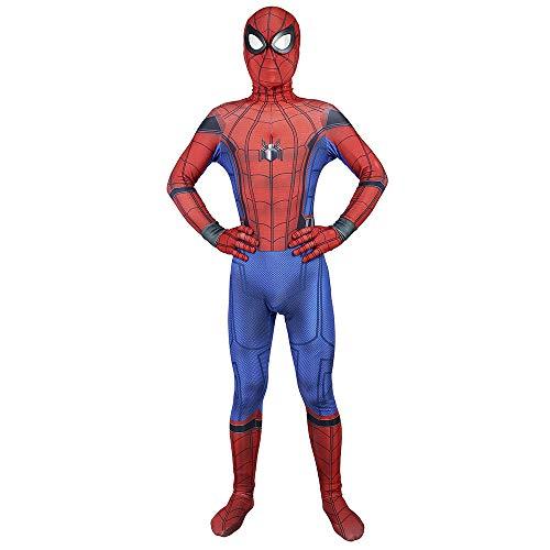Expedition Spiderman Skinny Clothes Heroes Zurückgegeben Bodysuit Halloween Cosplay Thema Partei Manifestation,Red-L