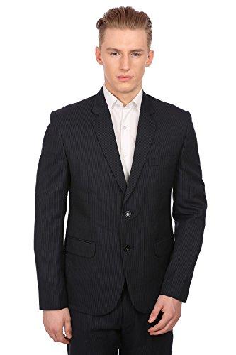 Wintage Herren Merino Wolle Blend Kerbe Revers Marine Pin Streifen Anzug: L (Marine-streifen-wolle-anzug)