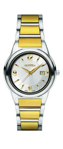 Roamer 507979 48 15 50 - Reloj analógico de cuarzo para mujer con correa de acero inoxidable, color dorado