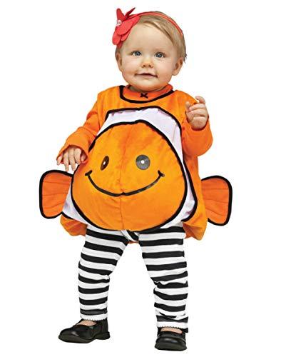 Horror-shop costume da bambino nemo clownfish arancione m