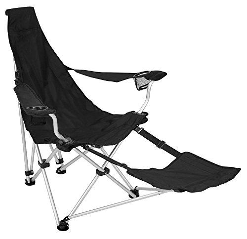 Faltbarer Liegestuhl Luxus Regiestuhl Schwarz OneSize