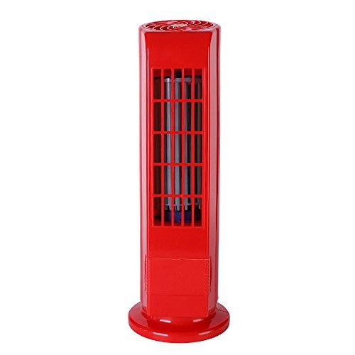 Mecohe Ventilatore A Torre   Nuovo USB Portatile Ventilatore Da Tavolo  Senza Lama, Ultra Silenzioso Con Telecomando Cooling Air Fan (Rosso)