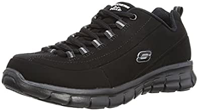 Skechers Leather Mix Skechers Sport Trainer 302 766 - Black Size 2