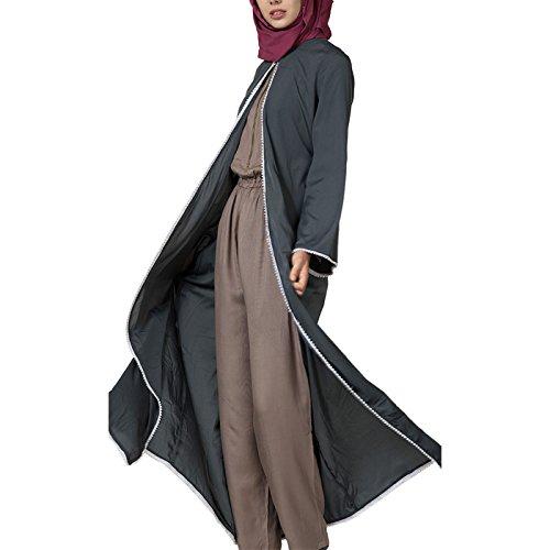 East Essence - Robe - Solid - Manches Longues - Femme gris foncé
