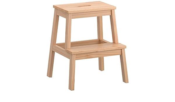 Sgabello scala scaletta 2 gradini ikea bekvam in legno di faggio