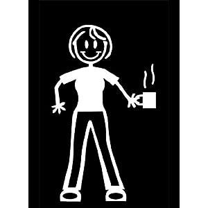My Stick Figure Family Autoaufkleber aufkleber Sticker decal Mutter mit Kaffee Tee F16