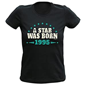 Sexy Damen T-Shirt exklusiv zum Geburtstag - A Star was born 1995 - Ein cooles Geschenk!