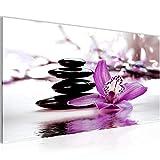 Bilder Blumen Orchidee Wandbild Vlies - Leinwand Bild XXL Format Wandbilder Wohnzimmer Wohnung Deko Kunstdrucke Violett 1 Teilig - MADE IN GERMANY - Fertig zum Aufhängen 204212b