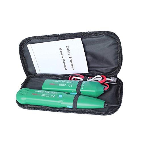 Elviray Berufstelefon-Telefon-Draht-Netz-Kabel-Prüfvorrichtung-Linie Verfolger mit Tragetasche für MASTECH MS6812 (Netzwerk Draht)
