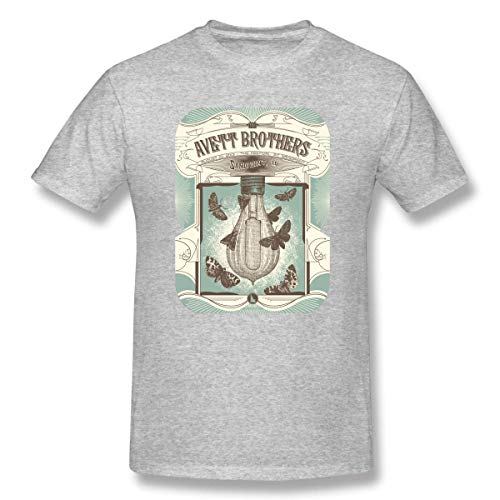 Herren Rundhals Basic Kurzarm T-Shirt Avett Brothers Cotton Casual Top S