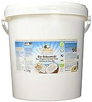 Premium Bio Kokosmehl (5000g) - Kaltgepresst unter 38°C Presstemperatur - Rohkostqualität