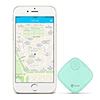 GLCON Key Finder Locator Bluetooth GPS Tracker Devices with App Remote Control Wireless Key Chain Slim Wallet Bag Luggage Tracker Compatible with iOS Android (Replaceable Battery Included), Green