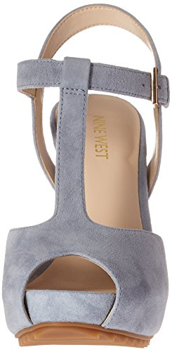 Nine West Radisa Suede Sandales à talons Medium blue