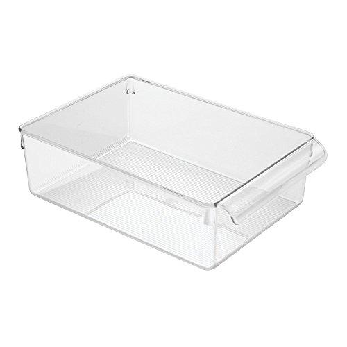 InterDesign Linus Aufbewahrungsbox, großer Küchen Organizer aus Kunststoff mit Griffen, durchsichtig (Pull-out-schubladen-schränke)