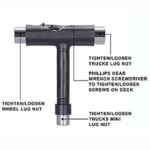Gearmax® T patin rodillo skate heavy duty multi T nueva herramienta