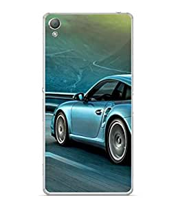 Snapdilla Designer Back Case Cover for Sony Xperia Z3 :: Sony Xperia Z3 Dual D6603 :: Sony Xperia Z3 D6633 (Metallic Travel Classic Shiny Chrome Coupe)