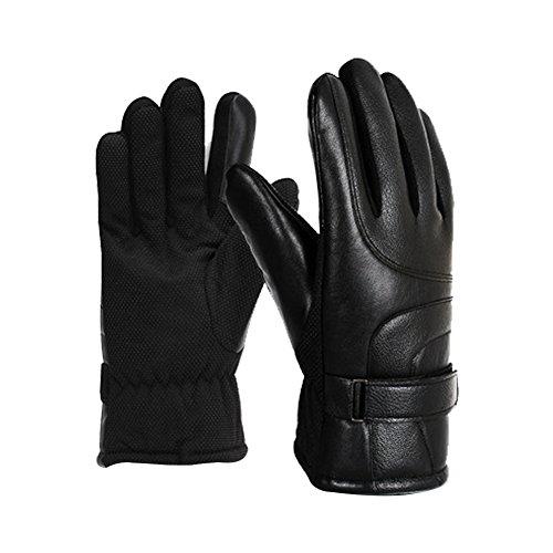 Wasserdichte Winter Fahrradhandschuhe,Radsporthandschuhe rutschfeste und stoßdämpfende Mountainbike Handschuhe mit,Winter Touchscreen Handschuhe (Black)
