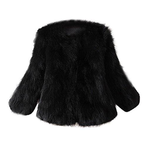KaloryWee Abrigo de Piel Sintética de Avestruz Suave de Piel Suave y Esponjosa Xmax - Abrigo para Mujer