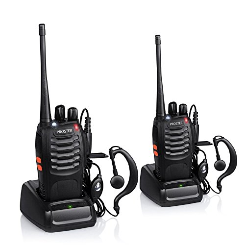 Proster Walkie Talkie Recargable 16 Canales