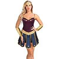 CHICTRY 4 Pcs Déguisement Sexy Femme Princesse Adulte pour Halloween soirée  Bal Cosplay Costume Robe+ 872cf112d99